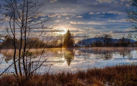 Фото утро, река, весна, пейзаж