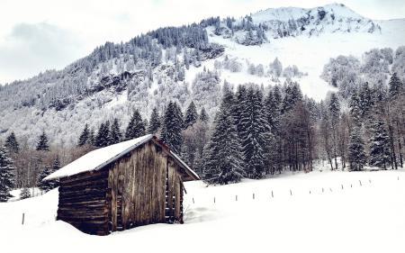 Заставки горы, дом, пейзаж
