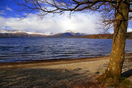 Заставки Шотландия, озеро, Лох-Ломонд, небо
