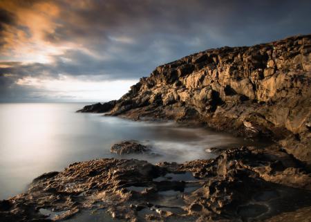 Картинки берег, камни, море, небо