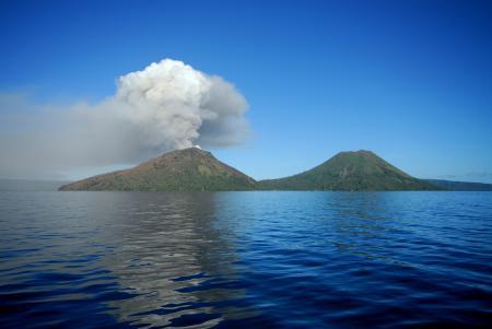 Картинки вулкан, остров, извержение, дым