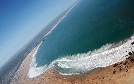 Обои Побережье, море, песок, пляж