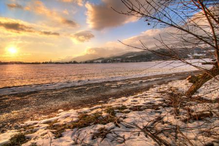 Фотографии поле, зима, свет, снег