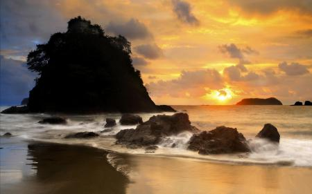Фотографии пляж, берег, песок, скалы