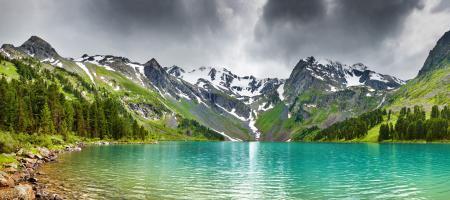 Заставки природа, озеро, горы, вода