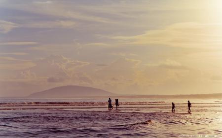Обои Море, лето, тепло, волны