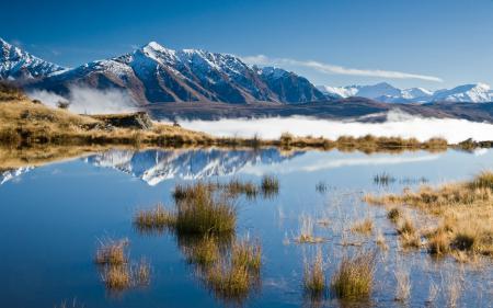 Картинки пейзажи, озеро, утро, отражение