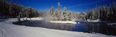 Фотографии зима, снег, река, деревья
