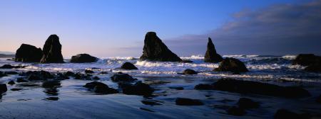 Обои берег, море, камни, волны