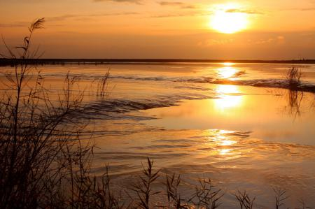 Фотографии Вечер, солнце, закат, природа