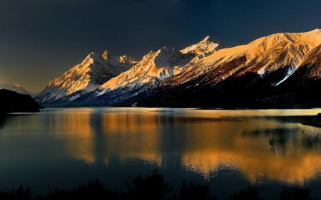 Картинки пейзаж, горы, вершины, снег