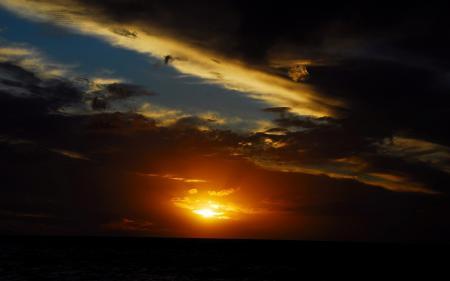 Заставки закат, небо, тучи, солнце