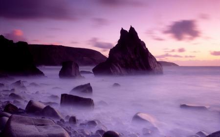 Картинки море, скалы, туман, вода
