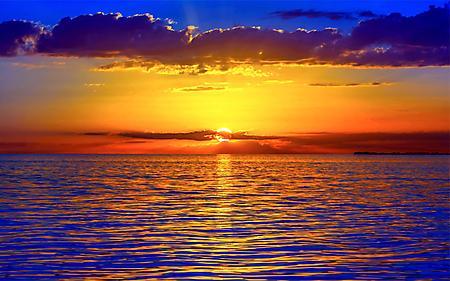 Фотографии красивый закат, на море, отражение солнца, в воде