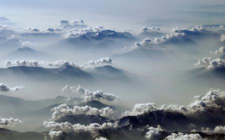 Обои Альпы, горы, облака, лучи