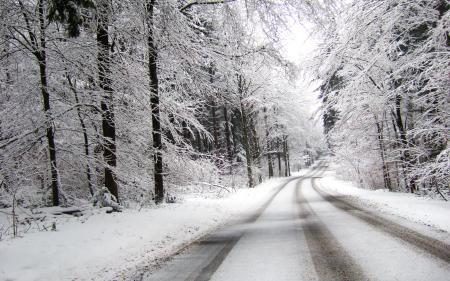 Картинки дорога, вдаль, поворот, зима