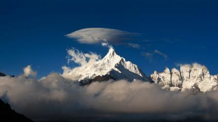 Обои небо, облако, горы