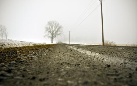 Обои дорога, пейзаж, макро