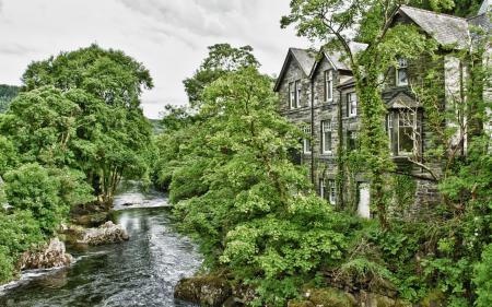 Картинки река, дом, пейзаж