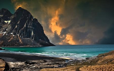 Фотографии море, горы, небо, пейзаж