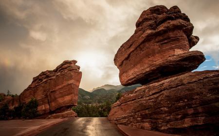 Фотографии дорога, скалы, пейзаж