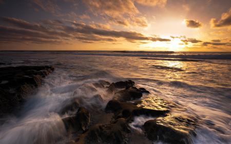 Фотографии закат, море, природа, пейзаж