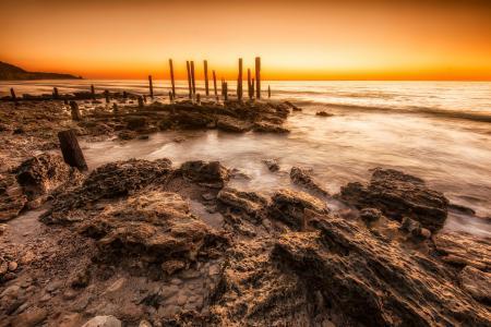 Обои природа, пейзаж, океан, камни