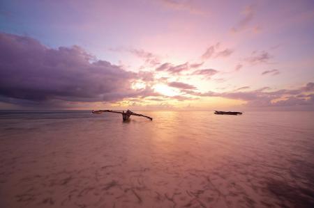 Фотографии океан, лодка, берег, Тайланд