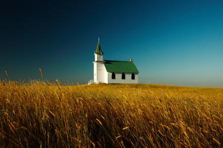 Заставки небо, поле, дом, церковь