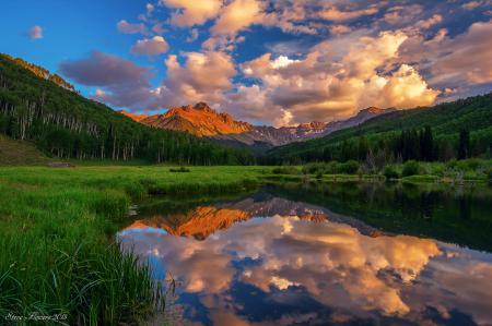 Заставки США, Колорадо, Mt. Sneffels, горы