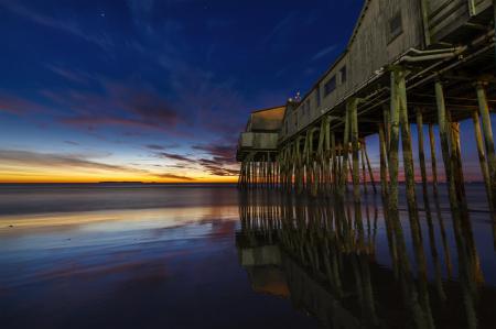 Фото природа, пляж, пирс, здания