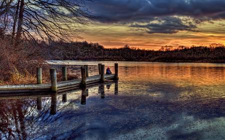 Заставки Blydenburgh, Park, sky, sunset