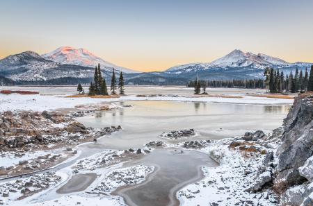 Фото зима, снег, горы, США