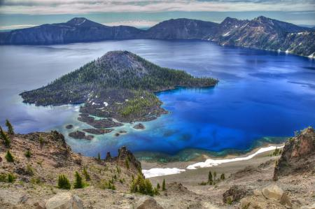 Фото Crater Lake National Park, Oregon, USA, Crater Lake Drive
