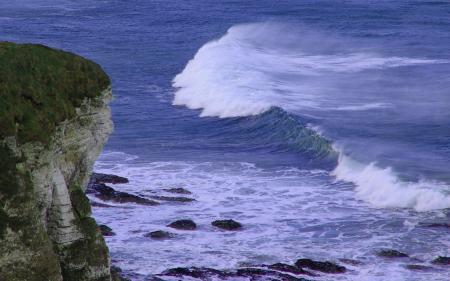 Фотографии океан, скала, обрыв, волны