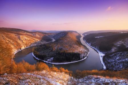 Картинки река, змея, зима