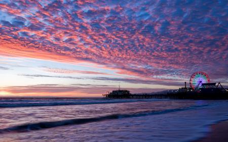 Картинки побережье, Санта - моника, Santa Monica, США