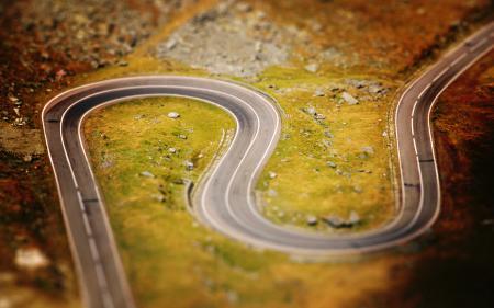 Картинки tilt-shift, дорога, дороги, фокус