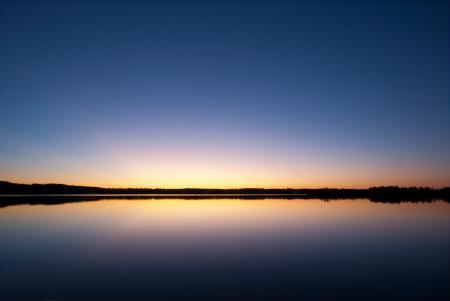 Обои вечер, закат, озеро, вода