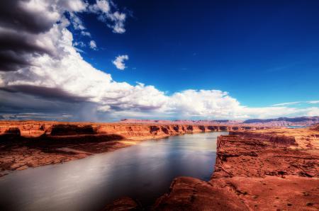 Фото природа, каньон, река, небо