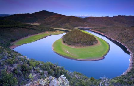 Фото река, русло, огибает, полуостров