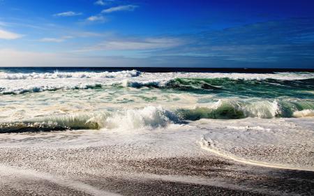Картинки берег, волны, море, синее