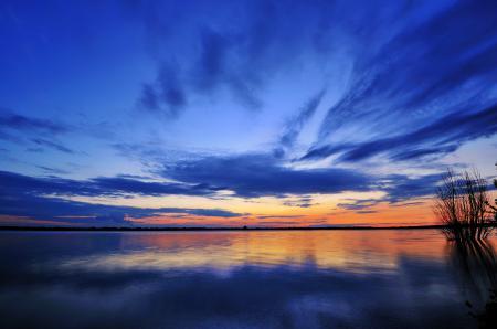 Картинки озеро, зеркало, небо, облака