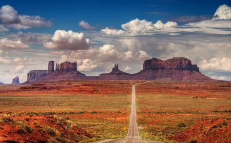 Фото горы, скалы, дорога, небо