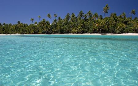 Заставки море, остров, вода, пальмы