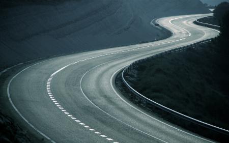 Картинки дорога, дороги, утро, пейзажи