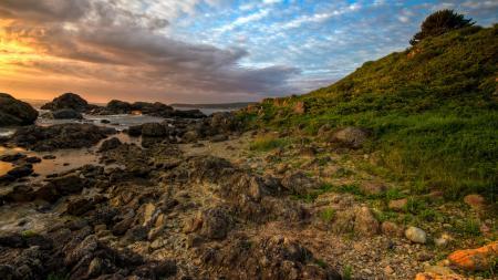 Фотографии побережье, восход, камни