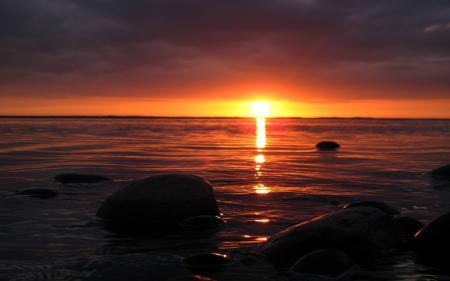 Заставки море, камни, берег, вода