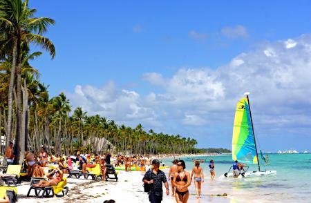 Обои пляж, Доминикана, люди, вода