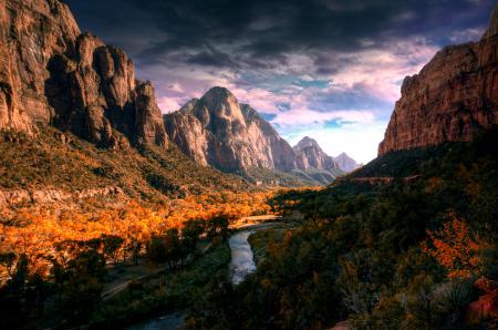 Фотографии горы, река, долина, осень